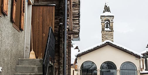 verbier traditional buildings historic church